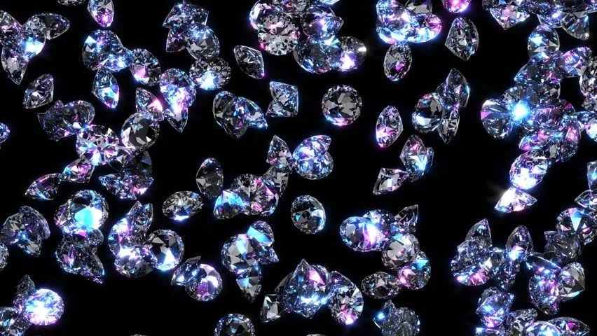 Falling Money 3d Wallpaper 40 Diamonds Fall Through The Air And Land In A Sparkling