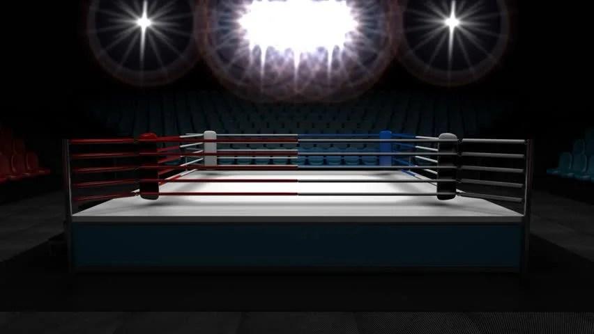 3d Kickboxing Wallpaper Boxing Ring 3d Render Loop 1080p Stock Footage Video