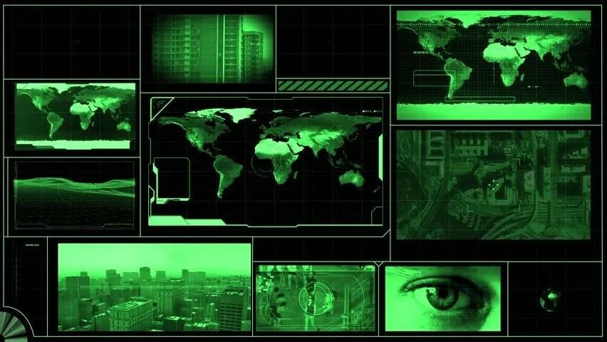 Hacker 3d Wallpaper Technology Interface Computer Data Screen Gui Stock