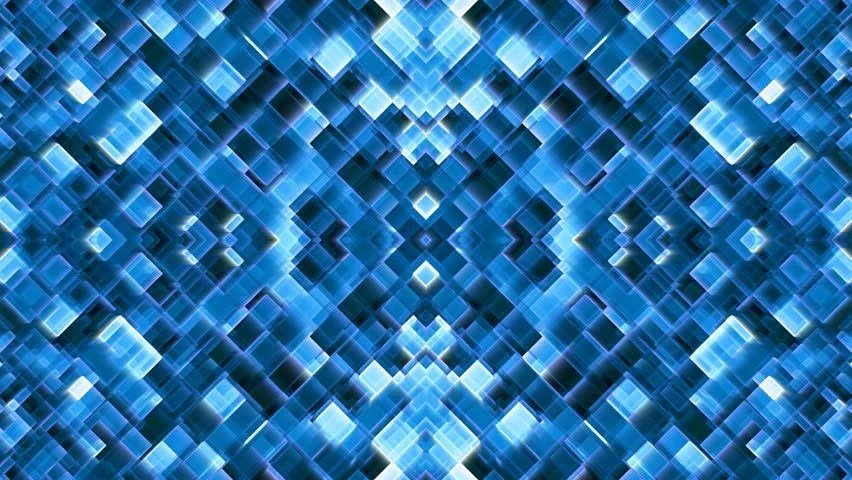 3d Cube Live Wallpaper Free Download Abstract White Grid On Blue Background Rotate In