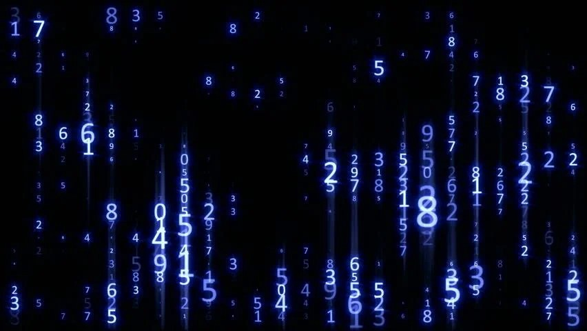 Falling Matrix Wallpaper Matrix Digital Rain Blue Data Flow Loop Stock Footage