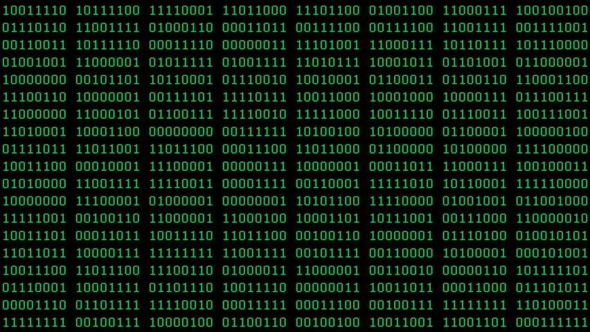Binary Code Wall Animation Stock Footage Video 3191083