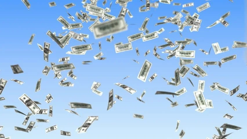 Live Wallpaper Money Falling Falling Money From Sky Stock Footage Video 3237343