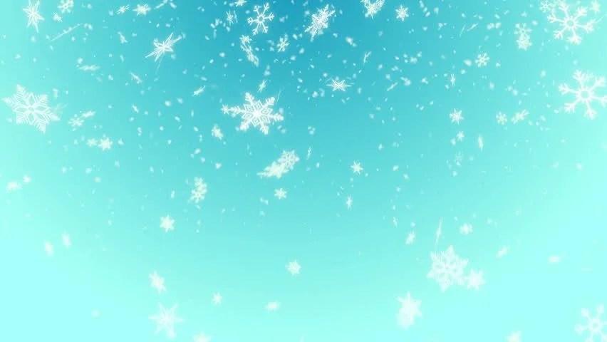 Live 3d Wallpaper Snowing Snow Shape Loop Light Blue Background 4k Resolution Ultra