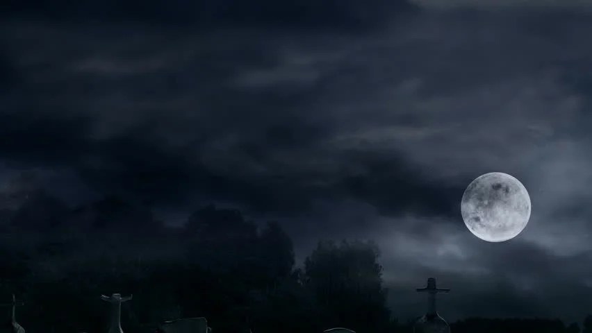 Rain Live Wallpaper Hd Scary Old Cemetery At Midnight Scary And Mysterious Place
