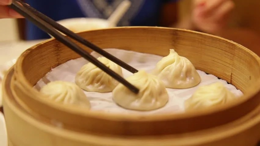 Ancient Chinese Girl Wallpaper Hot Xiaolongbao Soup Dumplings With Steam Traditional