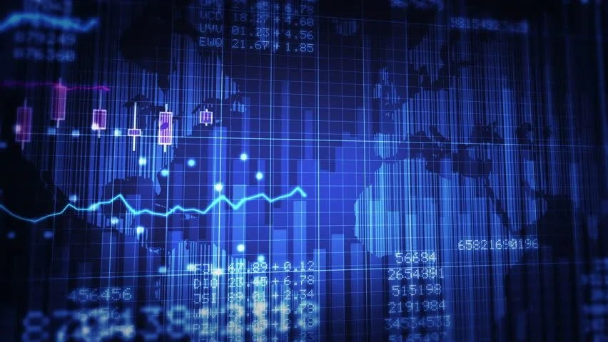 Falling Money Wallpaper Hd Declining Financial Chart Close Up Blue And White
