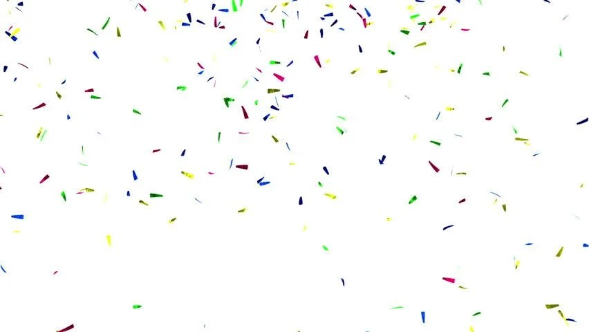 Cute Trumpet Wallpapers Falling Confetti On White Background Stock Footage Video