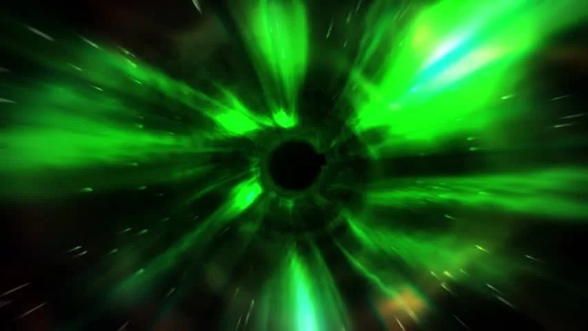 Black Hole Live Wallpaper Animation Tunnel Of Flash Green Light Represent Warp Zone