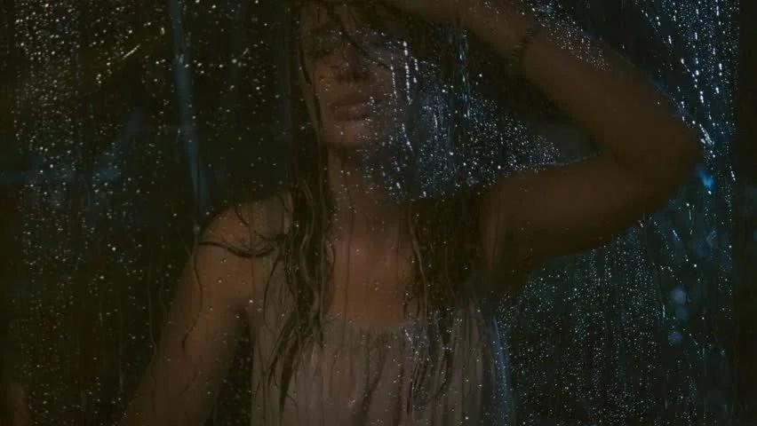 Alone Girl Wallpaper In Rain Sad Woman In The Rain Stock Footage Video 4864727