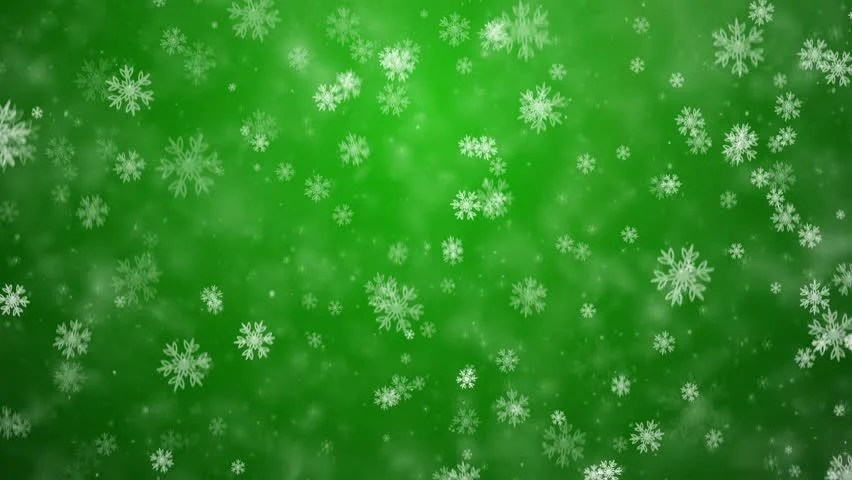 Falling From Stars Wallpaper Snowflakes Falling Against A Green Frosty Background Stock