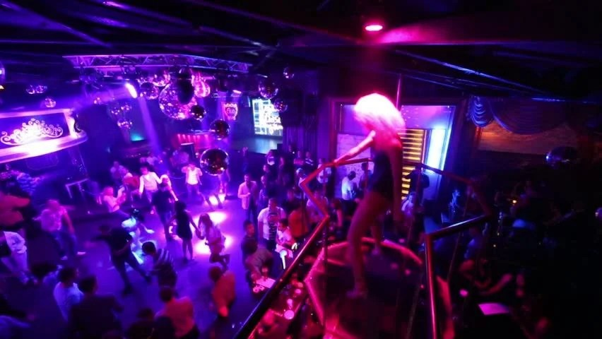 Silhouette Girl Real Wallpaper Sofia Bulgaria May 18 People Dancing In A Club In