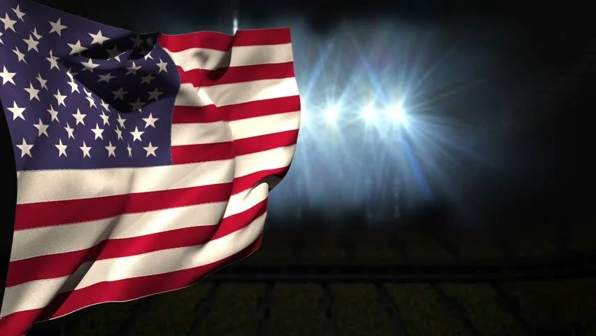 Black Wood Grain Wallpaper American National Flag Waving On Blue Sky Background With