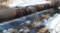 Water Leaking From Old Rusty Water Supply Pipe Stock ...