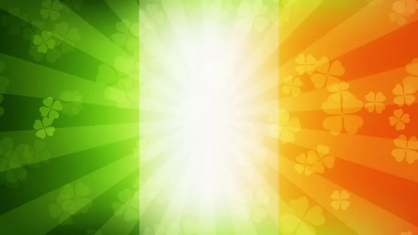 Indian Flag Animated Wallpaper 3d Falling Clover Leaves On The Irish Flag Background Saint