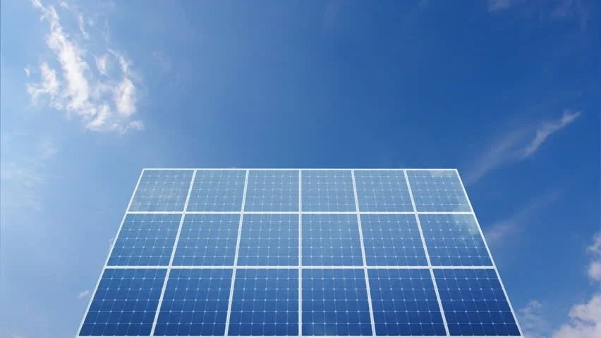 Electric Blue Wallpaper Hd Solar Power Panel Concept Animation Stock Footage Video