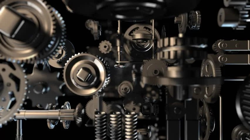 Download Engine 3d Live Wallpaper 3d Background With Endless Complex Clockwork Machinery