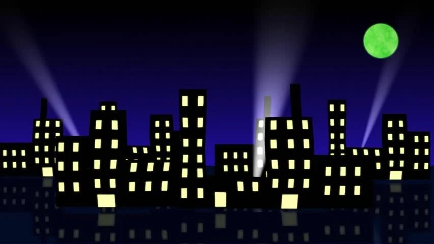Animated Wallpaper Windows 8 Cartoon Looping Animation Of Cityscape At Night With