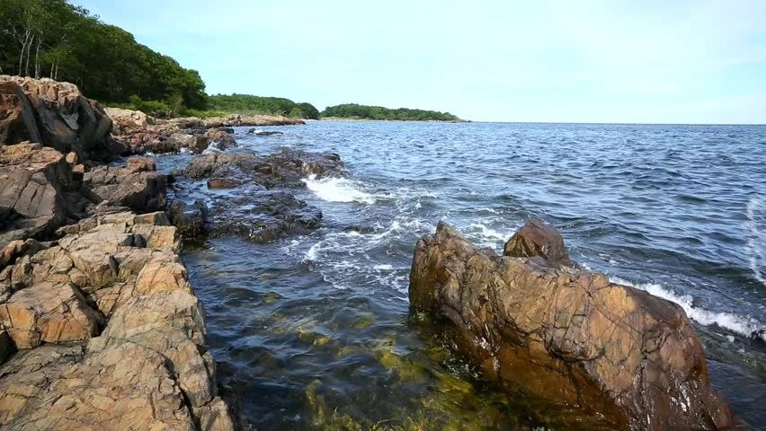 Vista Wallpaper Hd Rocky Shoreline In Maine Usa Scenic Tranquil Clip Of A