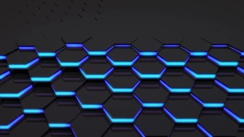 3d Cube Live Wallpaper Download 3d Loop Hexagonal Motion Graphic Background 4k Resolution