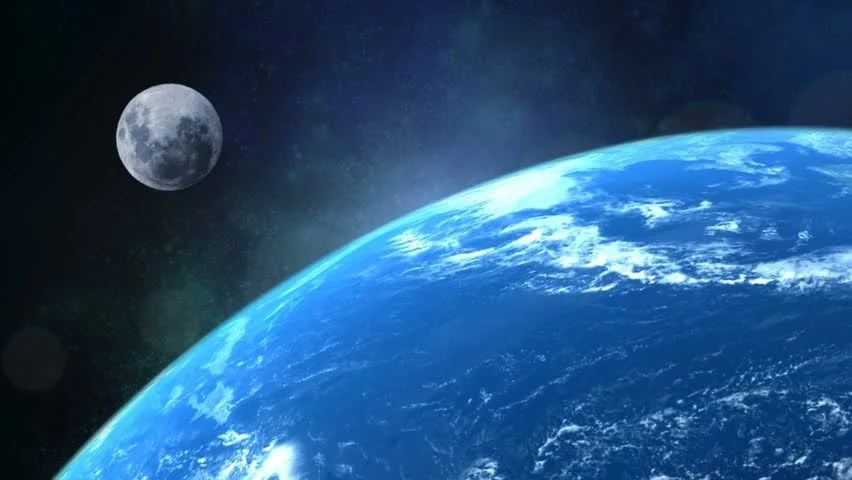 Iss Wallpaper Hd Classic Scene Of A Rotating Earth Looking Towards The Moon