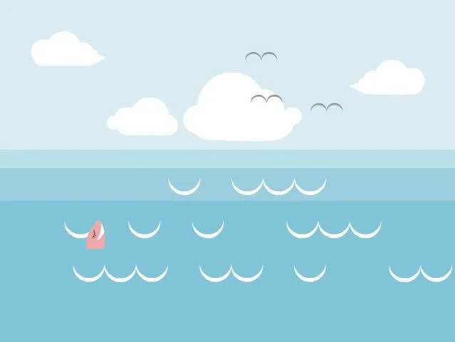 Fish Tank 3d Wallpaper Cartoon Fish Splashing In The Sea Stock Footage Video