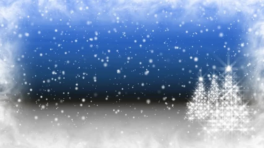 Moving Falling Snow Wallpaper Loopable Sparkling And Snowflakes Christmas Tree