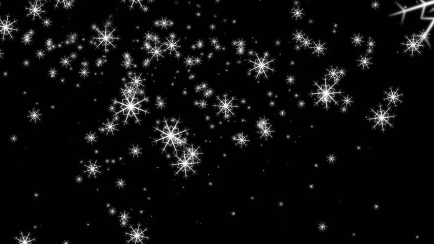3d Fireflies Live Wallpaper Animated Falling Snow Flakes Against Black Background
