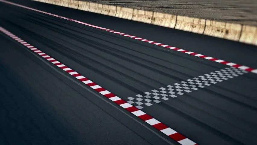 Car Racing Flag Wallpaper Formula One Racecars Crossing Finishing Line Static Cam