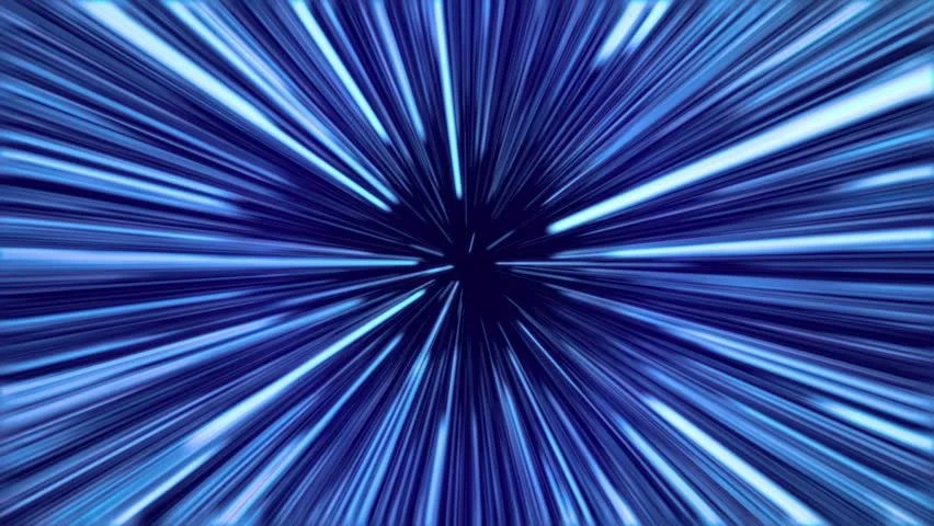 Hyperspace 3d Live Wallpaper Travel At Light Speed Blue Stock Footage Video 6333218