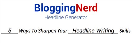 Blogging Nerd Headline Generator