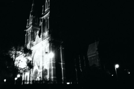 St. John's church at night