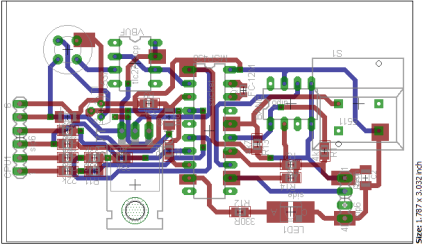 Indoor Sensor Unit PCB layout (both layers)