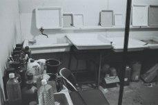 Student darkroom interior