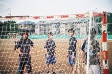 4E football team at autumn sport event