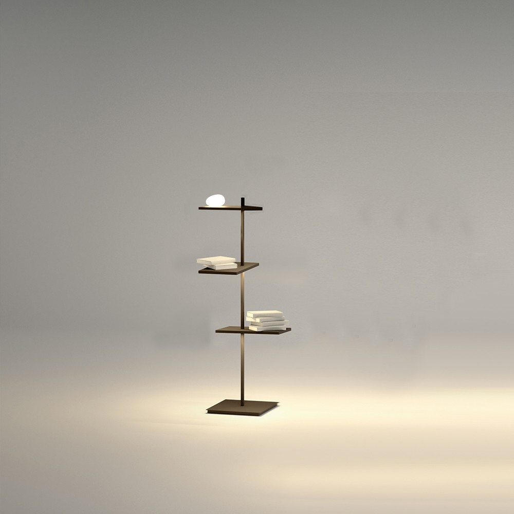 Designer Lampe Suite Floor Lamp Shelf With Lamp - Design Floor Light - Floor Light - Indoor Lighting