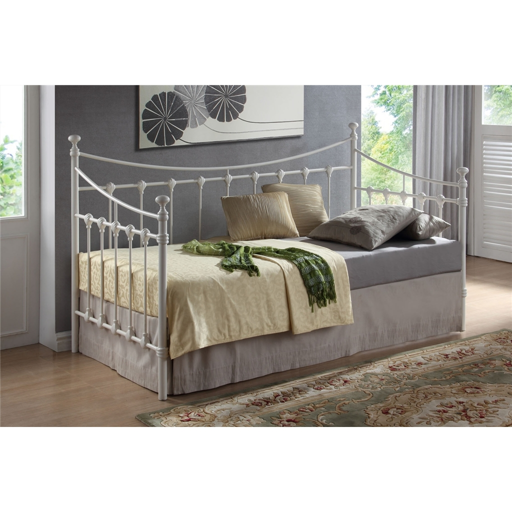 Daybed Frame Ivory Metal Day Bed Frame - Single 3ft