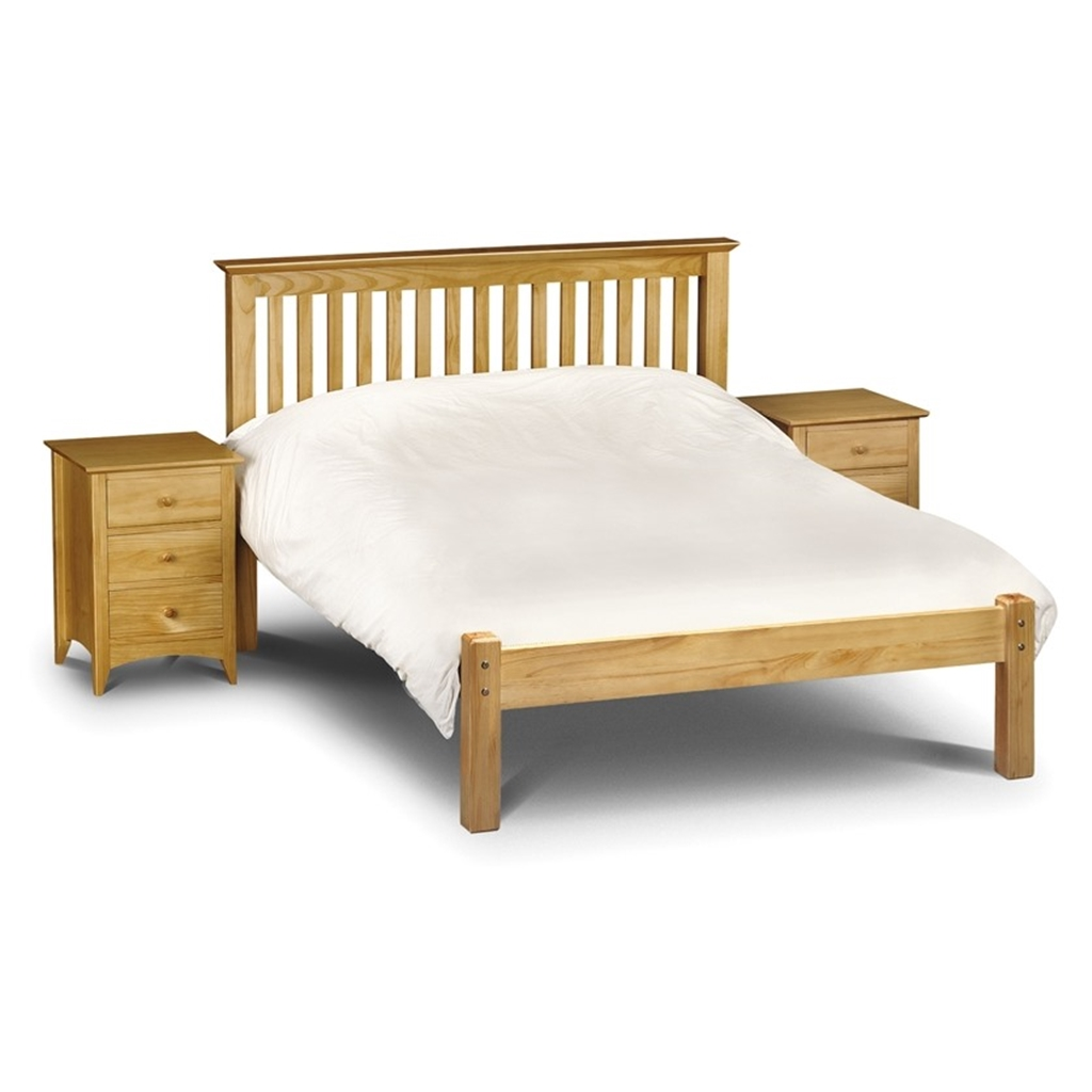 Shaker Style Double Bed Pine Finish Shaker Style Low Foot End Bed King Size 5ft