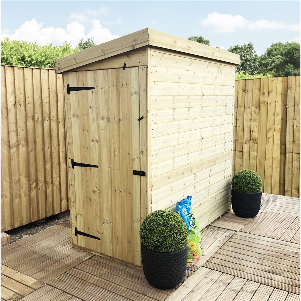 Store Banne 6 X 3.5 M 3 X 6 Pressure Treated Pent Shed