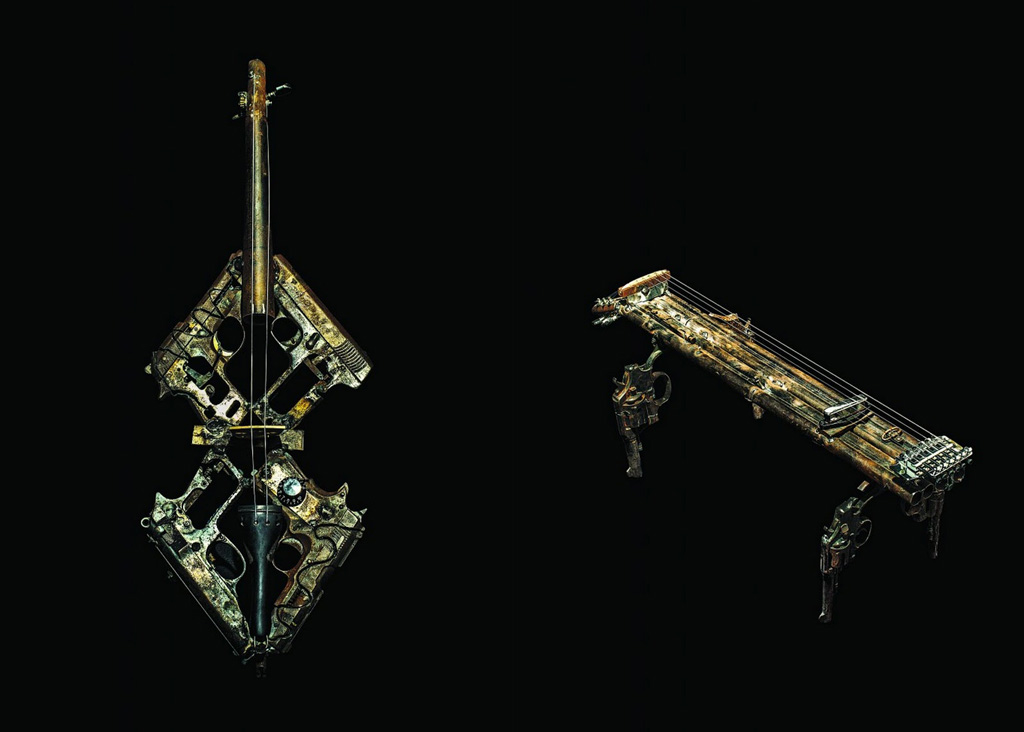 Cool Old Cars Wallpapers Musical Instruments Made Out Of Weapons 9 Pics I Like