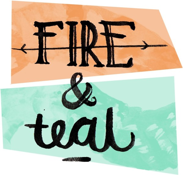 fire and teal