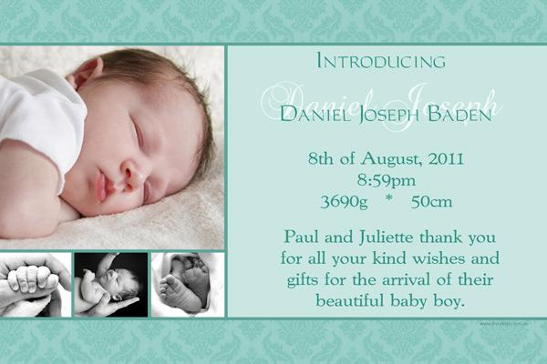Birth Announcement Photo Cards for Boys and Baby thank you cards