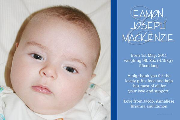 Birth Announcements Photo Cards  Photo Thank You - Photo and Strip
