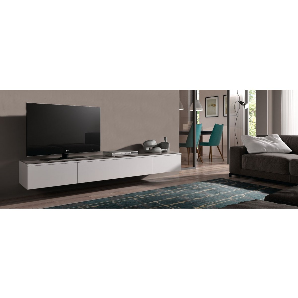 Designer Tv Möbel Hängend Tv Lowboard Float 221 Cm | I Live Design