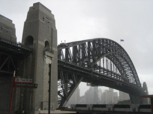 Sydney Harbor Bridge from the north shore's Luna Park