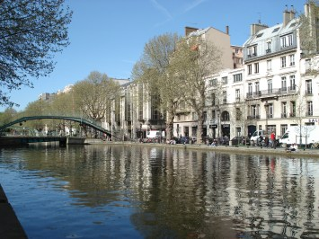 Canal St. Martin in Paris, France