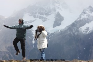 Happiness at the feet of the Torres del Paine in Chile's Patagonia