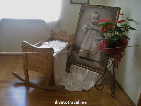 Room where Pope John Paul II (Karol Wojtyla) was born in Wadowice, Poland
