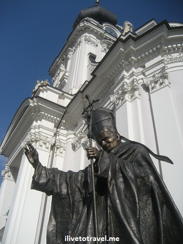 John Paul II statue in his hometown of Wadowice, Poland