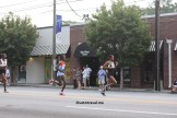 The front of the pack at Atlanta's Peachtree Road Race around mile 3.5